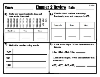 Chapter: 2  Review  2nd Grade