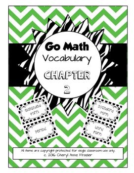 Go Math Chapter 2 Vocabulary