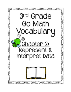 **Freebie**Go Math Chapter 2 Vocabulary Cards