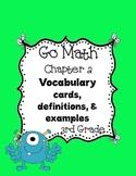 Go Math~ Chapter 2 Vocabulary Words 3rd grade
