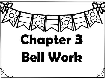 Go Math! Chapter 3 Bell Work
