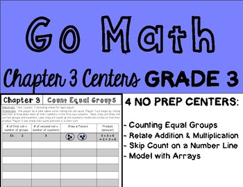 Go Math Chapter 3 Centers