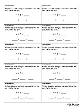 Go Math Chapter 3 Exit Slips - 2nd Grade by Classroom ...