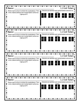 Go Math! Chapter 3 Exit Tickets 3rd Grade