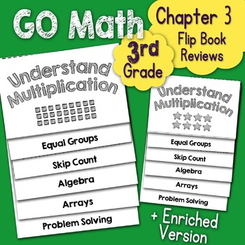 Go Math Chapter 3 Flip Book Reviews - 3rd Grade