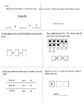 Go Math Chapter 3 Formative Assessment