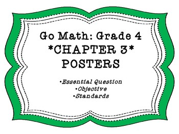 Go Math Chapter 3 Grade 4 Posters