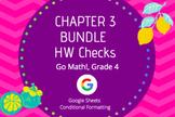 Distance Learning Go Math Grade 4 Chapter 3 Homework Google Sheets Bundle