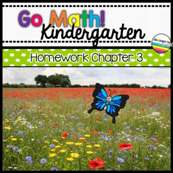 Go Math! Chapter 3 Kindergarten Homework