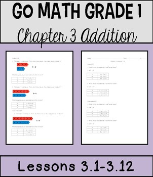 Go Math Chapter 3 Lessons 1-12