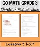 Go Math Chapter 3 Lessons 1-7 *Multiplication*