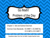 Go Math! Chapter 3 Problem of the Day, 5th Grade- SMART Board