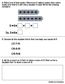 Go Math Chapter 3 Review Test: First Grade by Kathryn's ...