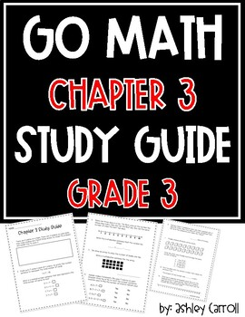 Go Math Chapter 3 Study Guide Grade 3