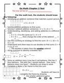 1st Grade Go Math Chapter 3 Study Sheet for Parents