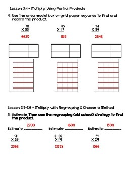 Go Math! Chapter 3 Test - 4th Grade