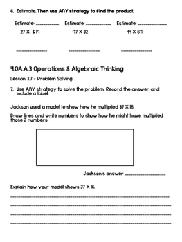 Go Math! Chapter 3 Test Review