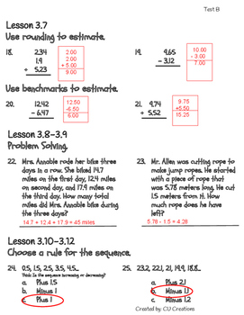 Go Math Grade 3 Chapter 4 Review Test Answer Key