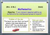 Go Math! Chapter 3 Understand Multiplication: Equal Groups