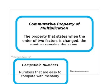 Go Math Chapter 3 Vocabulary