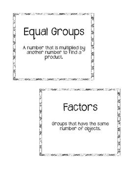 **Freebie**Go Math Chapter 3 Vocabulary Cards