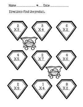 Go Math Chapter 4 - 3rd Grade - Multiplication Facts & Strategies - Superheroes