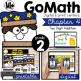 Second Grade Math Centers, 2 Digit Addition, Chapter 4