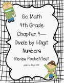 Go Math Chapter 4 - Divide by 1-Digit Numbers Review Test
