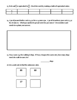 Go Math! Chapter 4 Extra Test for Grade 6 for either Retake or Extra Practice!