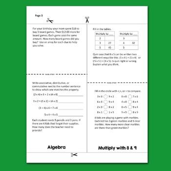 Go Math Chapter 4 Flip Book Reviews - 3rd Grade