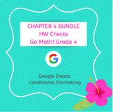 Distance Learning Go Math Grade 4 Chapter 4 Homework Google Sheets Bundle