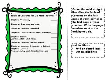 Go Math - Chapter 4 - Interactive Journal