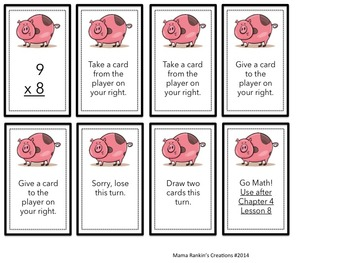 Go Math Chapter 4 Lesson 8 Multiplication Oink