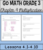 Go Math Chapter 4 Lessons 1-10 *Multiplication*