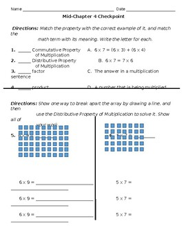 Go Math! Chapter 4 MidChapter Checkpoint