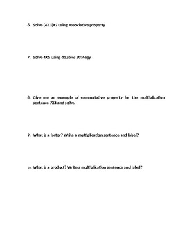 Go Math Chapter 4 Property Test