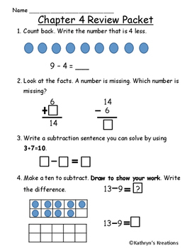 Go math chapter 4 teaching resources teachers pay teachers go math chapter 4 review test first grade fandeluxe Image collections