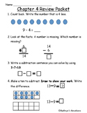 Go Math Chapter 4 Review Test: First Grade