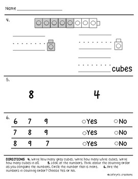 Go Math Chapter 4 Review Test: Kindergarten