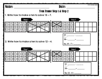 Go Math Chapter 4 Tens Frame Step 1 & Step 2