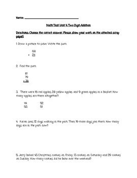 Go Math! Chapter 4 Test