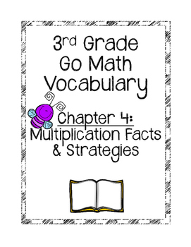 **Freebie**Go Math Chapter 4 Vocabulary Cards