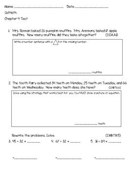 Go Math Chapter 4 test