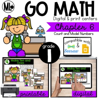 GoMath-First Grade Math Centers, Count and Model Numbers, Chapter 6