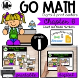 GoMath-First Grade Math Centers, Count and Model Numbers,