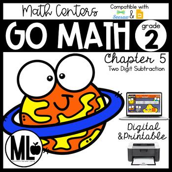 Second Grade Math Centers, 2 Digit Subtraction, Chapter 5