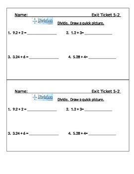 Go Math Chapter 5 Exit Slips/Quizzes/Quick Checks