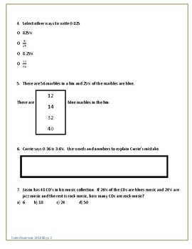 Go Math! Chapter 5 Extra Test for Grade 6 for either Retake or Extra Practice!