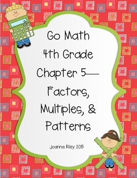 Go Math Chapter 5 - Factors Multiples and Patterns - Review Test