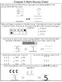 Math Chapter 5 Kindergarten Review